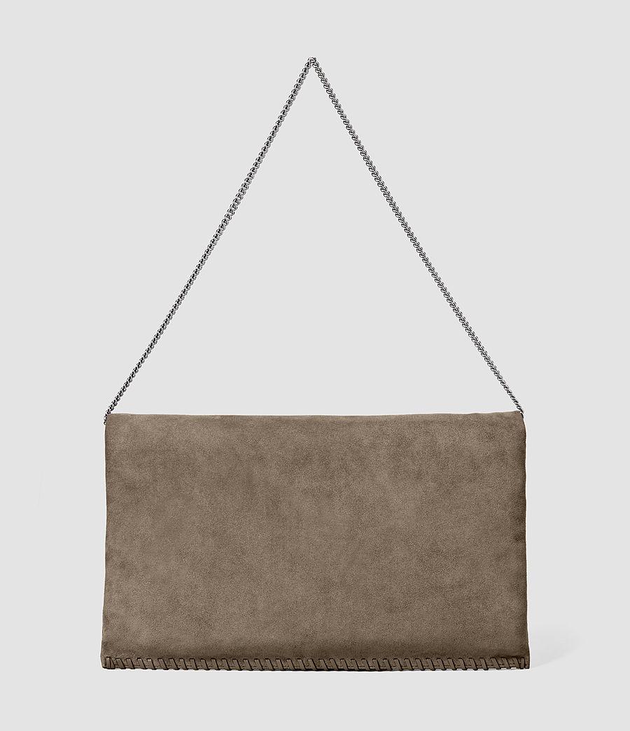 Women's Fleur De Lis Foldover Bag (almond_taupe) - Image 4