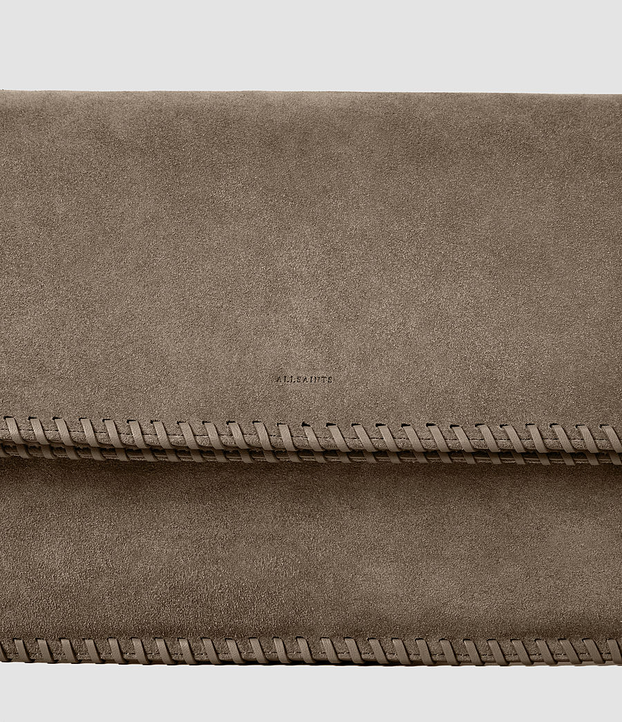 Women's Fleur De Lis Foldover Bag (almond_taupe) - Image 5