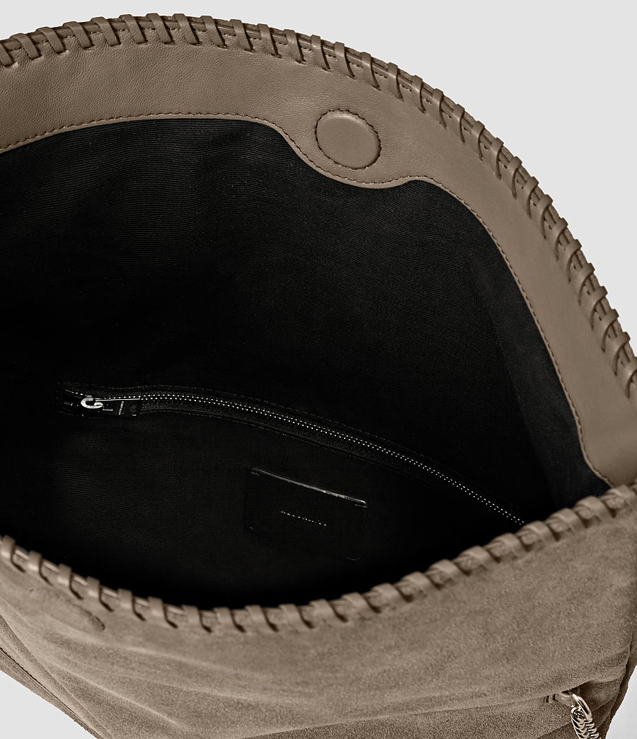 Women's Fleur De Lis Foldover Bag (almond_taupe) - Image 6