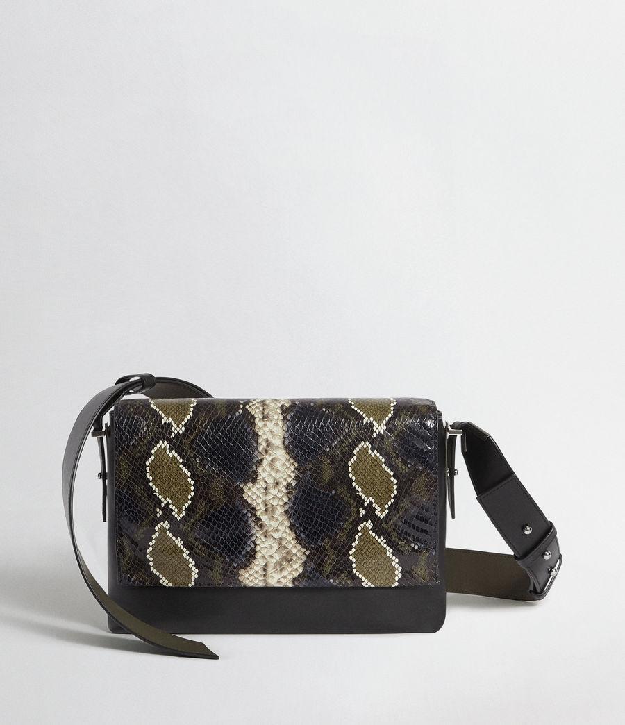 Womens Versailles Large Leather Shoulder Bag (black_multi_dk_kha) - Image 1