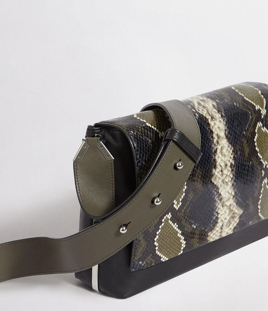 Womens Versailles Large Leather Shoulder Bag (black_multi_dk_kha) - Image 2