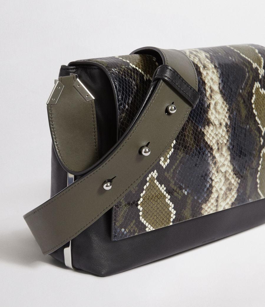 Womens Versailles Large Leather Shoulder Bag (black_multi_dk_kha) - Image 5