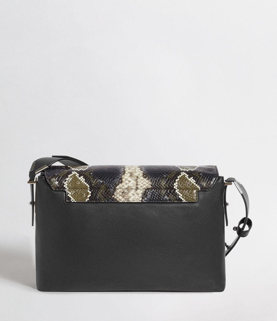 Womens Versailles Large Leather Shoulder Bag (black_multi_dk_kha) - Image 6