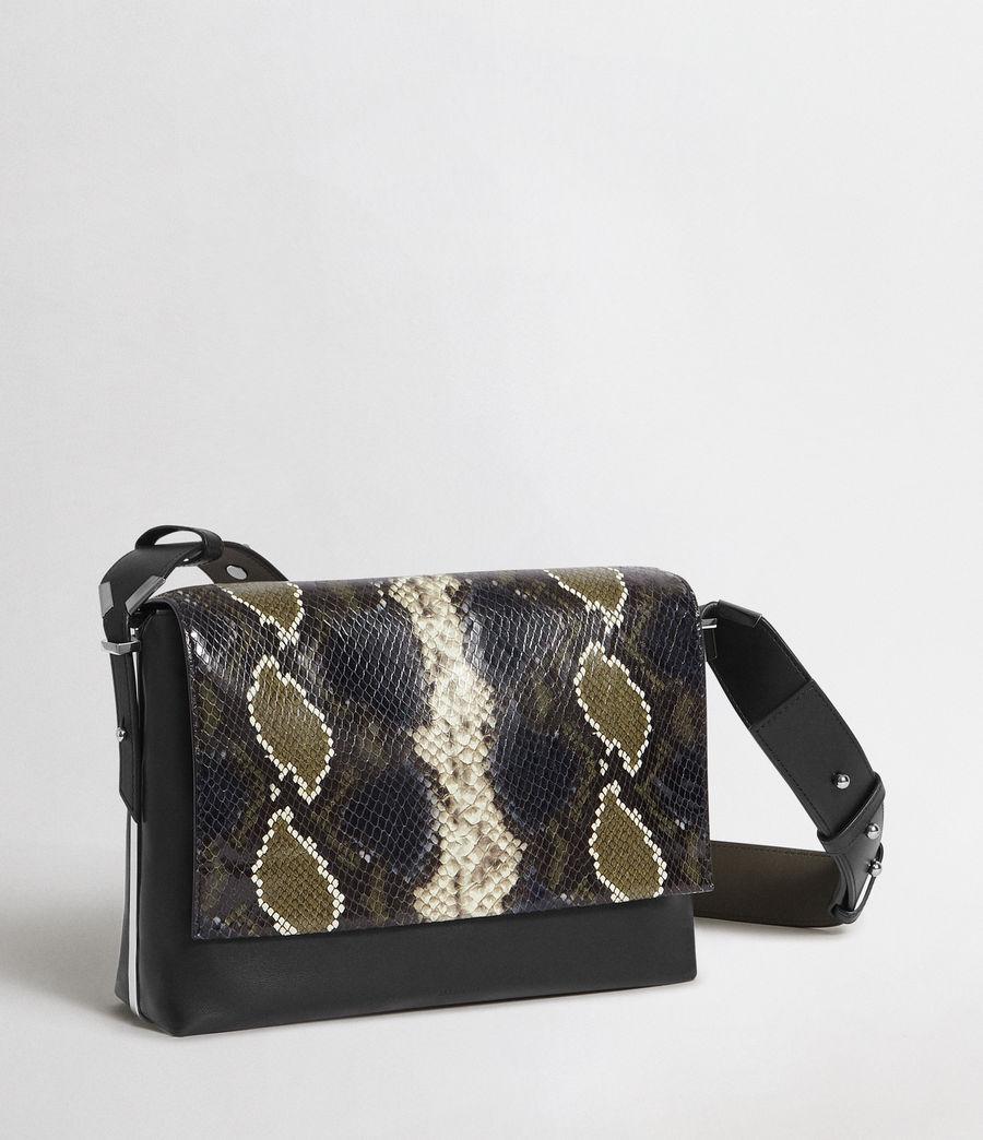 Womens Versailles Large Leather Shoulder Bag (black_multi_dk_kha) - Image 7