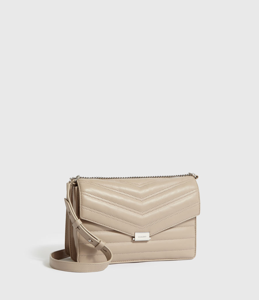 Women's Justine Flap Leather Crossbody Bag (sandstone) - Image 3