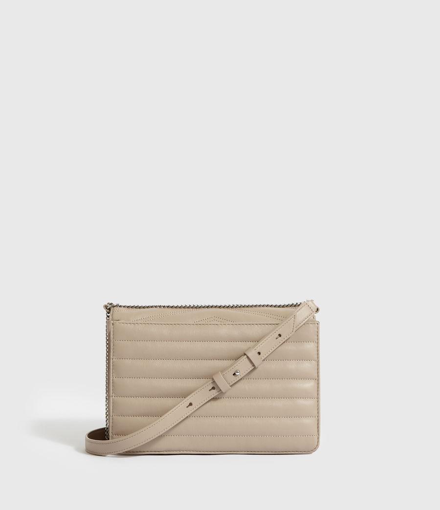 Women's Justine Flap Leather Crossbody Bag (sandstone) - Image 7