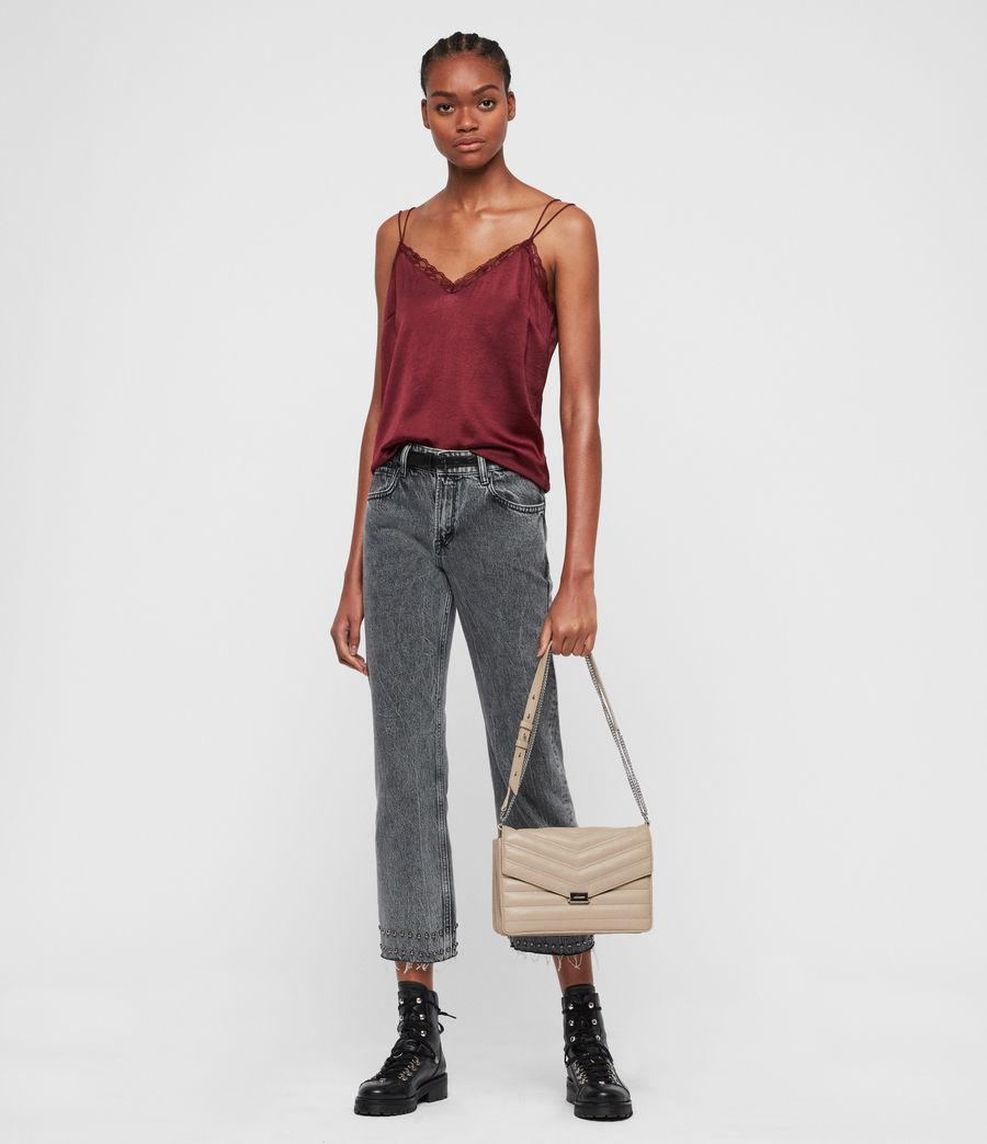 Women's Justine Flap Leather Crossbody Bag (sandstone) - Image 8