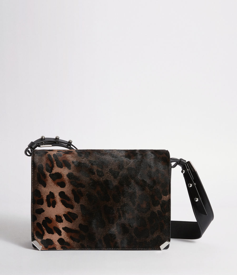 Women's Vincent Leather Shoulder Bag (leopard_black) - Image 1