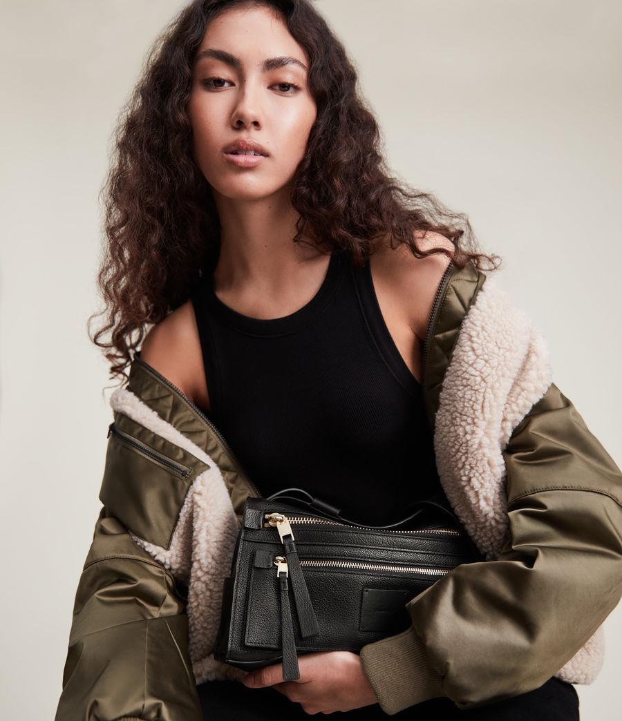 Women's Abrielle Leather Shoulder Bag (black) - Image 1