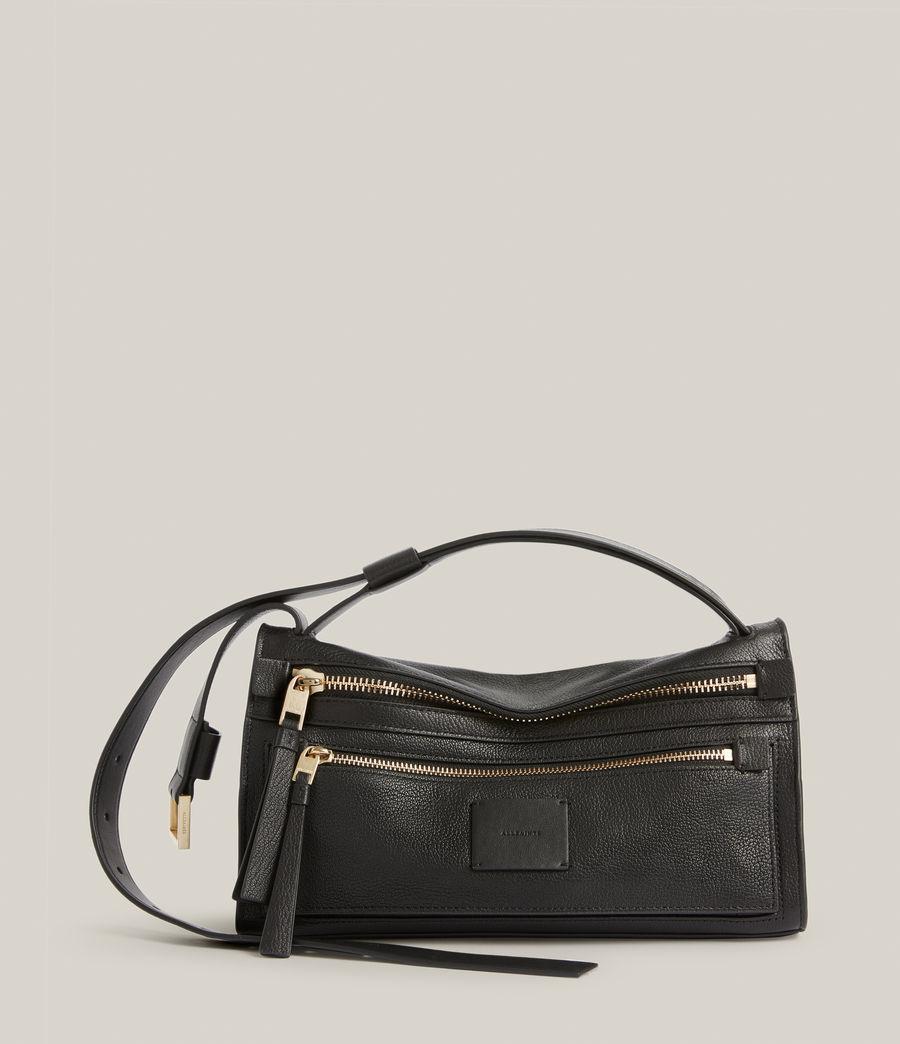 Women's Abrielle Leather Shoulder Bag (black) - Image 2