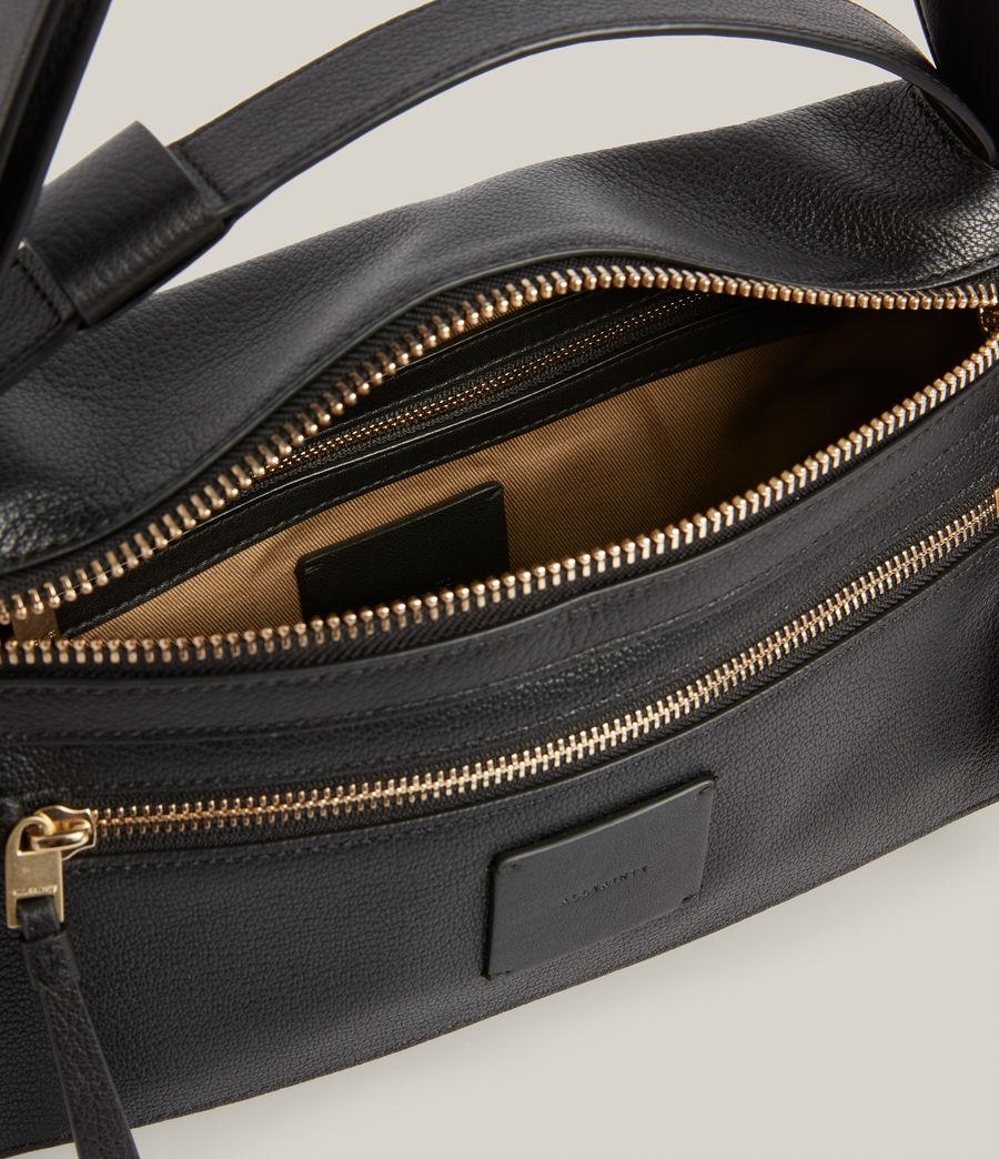 Women's Abrielle Leather Shoulder Bag (black) - Image 3