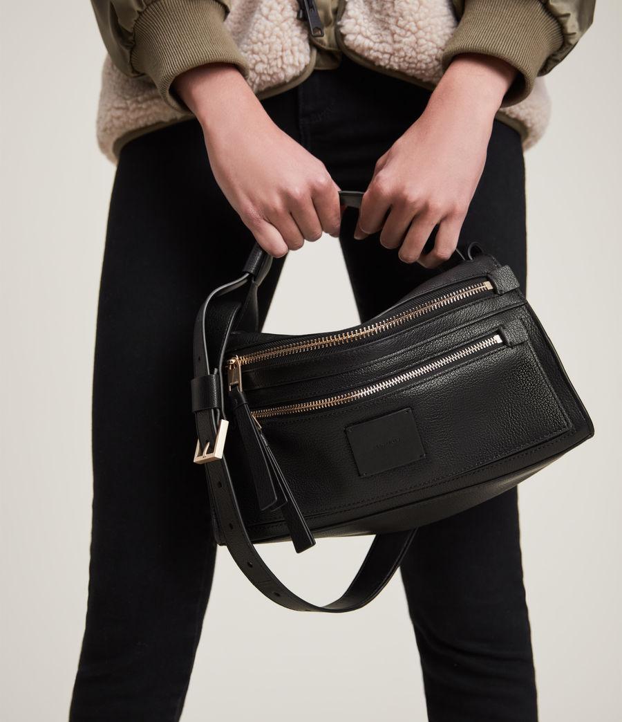 Women's Abrielle Leather Shoulder Bag (black) - Image 4