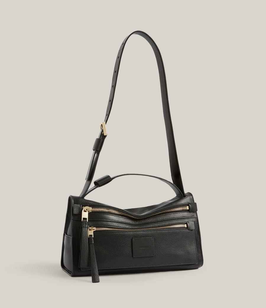 Women's Abrielle Leather Shoulder Bag (black) - Image 5