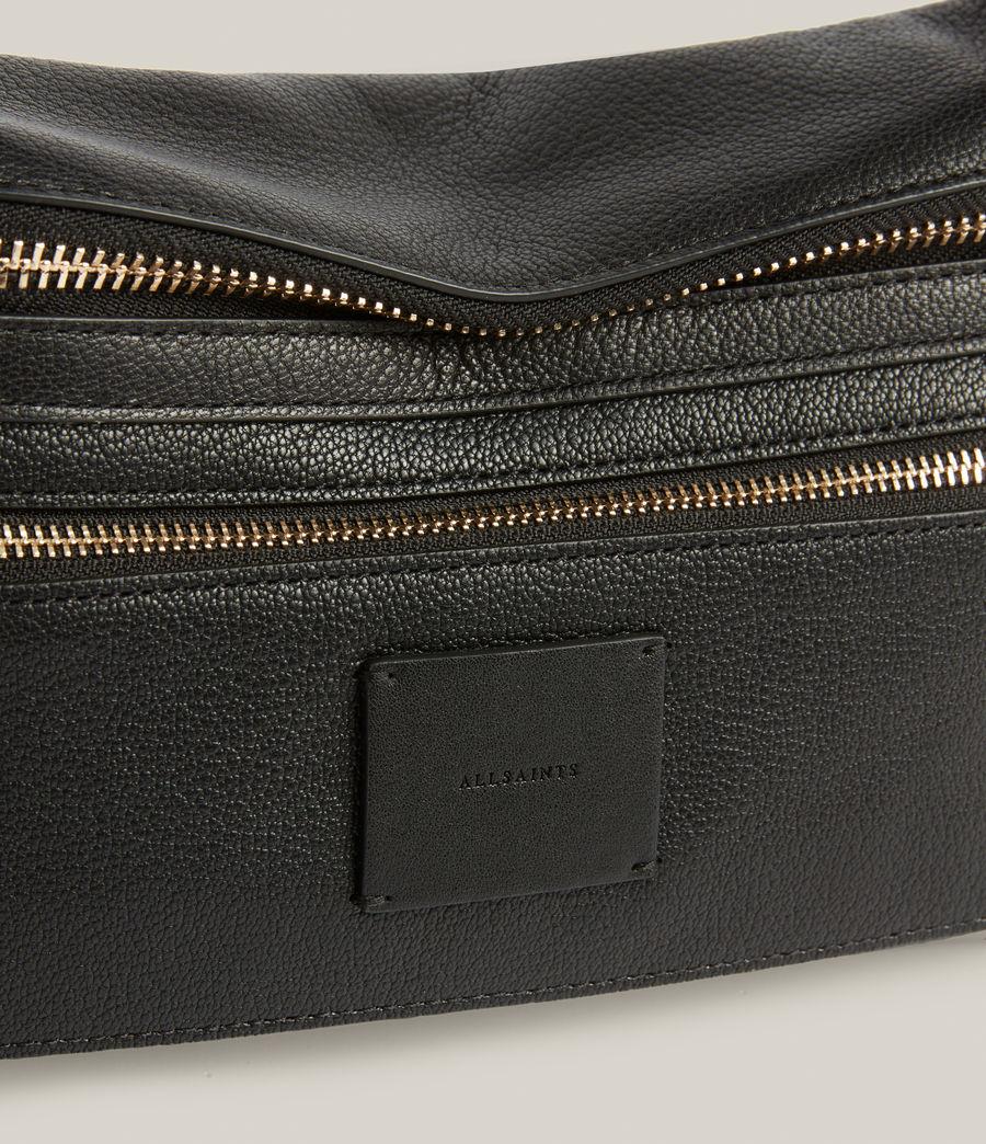 Women's Abrielle Leather Shoulder Bag (black) - Image 6