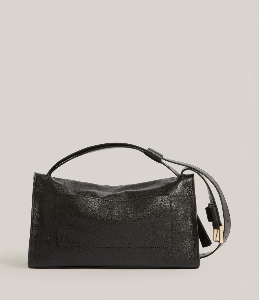 Women's Abrielle Leather Shoulder Bag (black) - Image 8