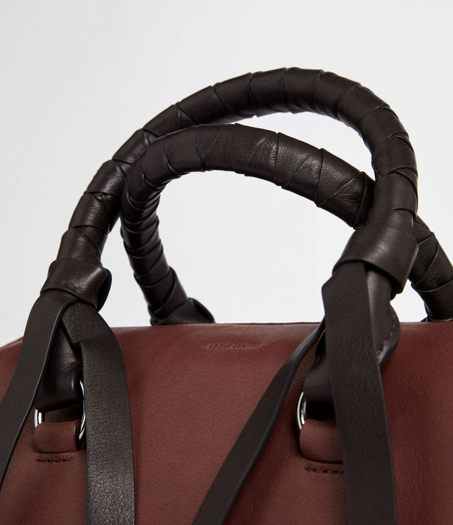 Mujer Voltaire Leather Small Bowling Bag (black) - Image 3