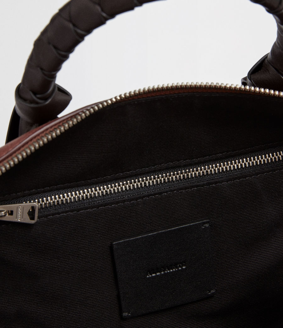 Mujer Voltaire Leather Small Bowling Bag (black) - Image 6