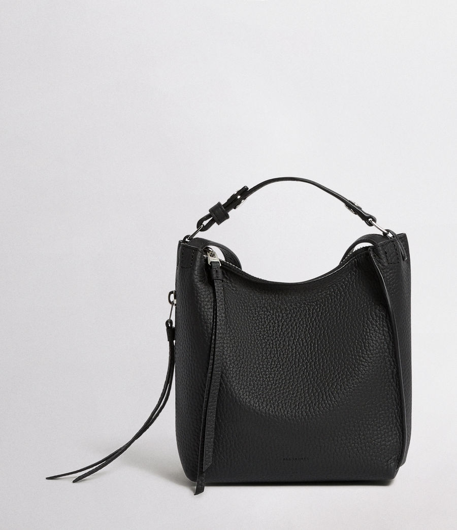 Women's Kita Mini Leather Backpack (black) - Image 1