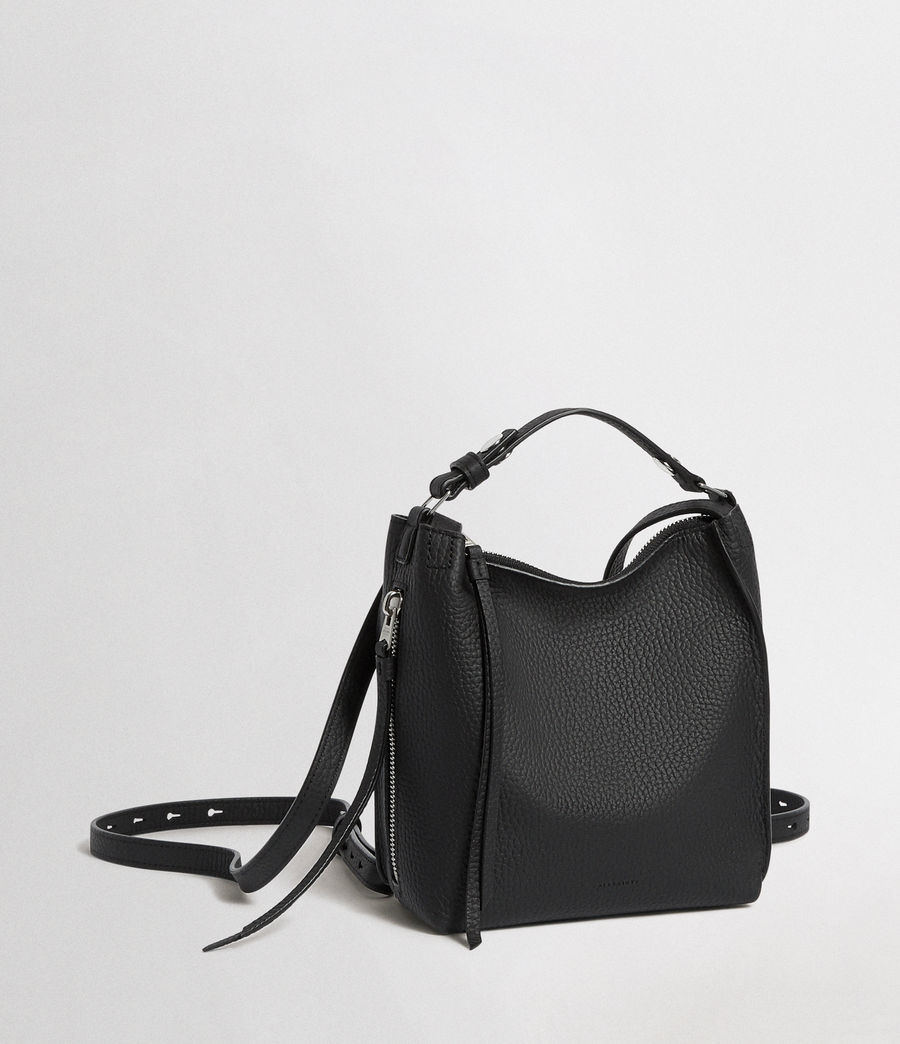 Women's Kita Mini Leather Backpack (black) - Image 4