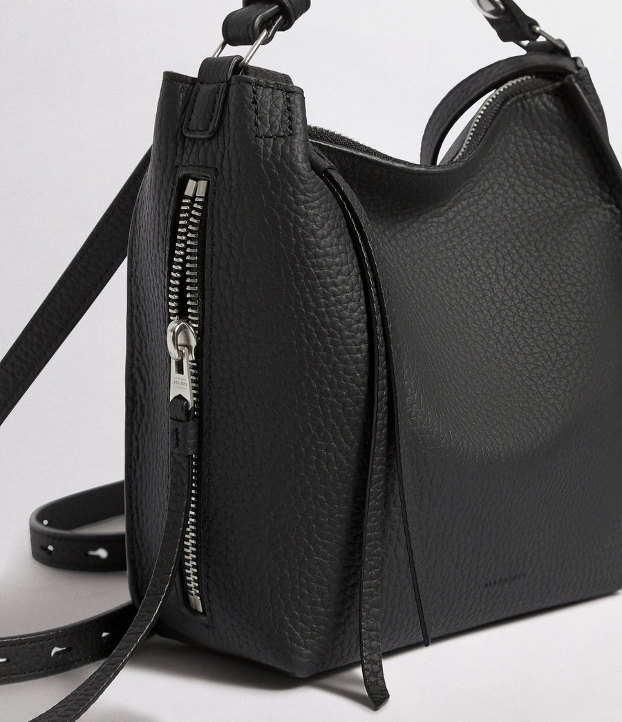Women's Kita Mini Leather Backpack (black) - Image 5