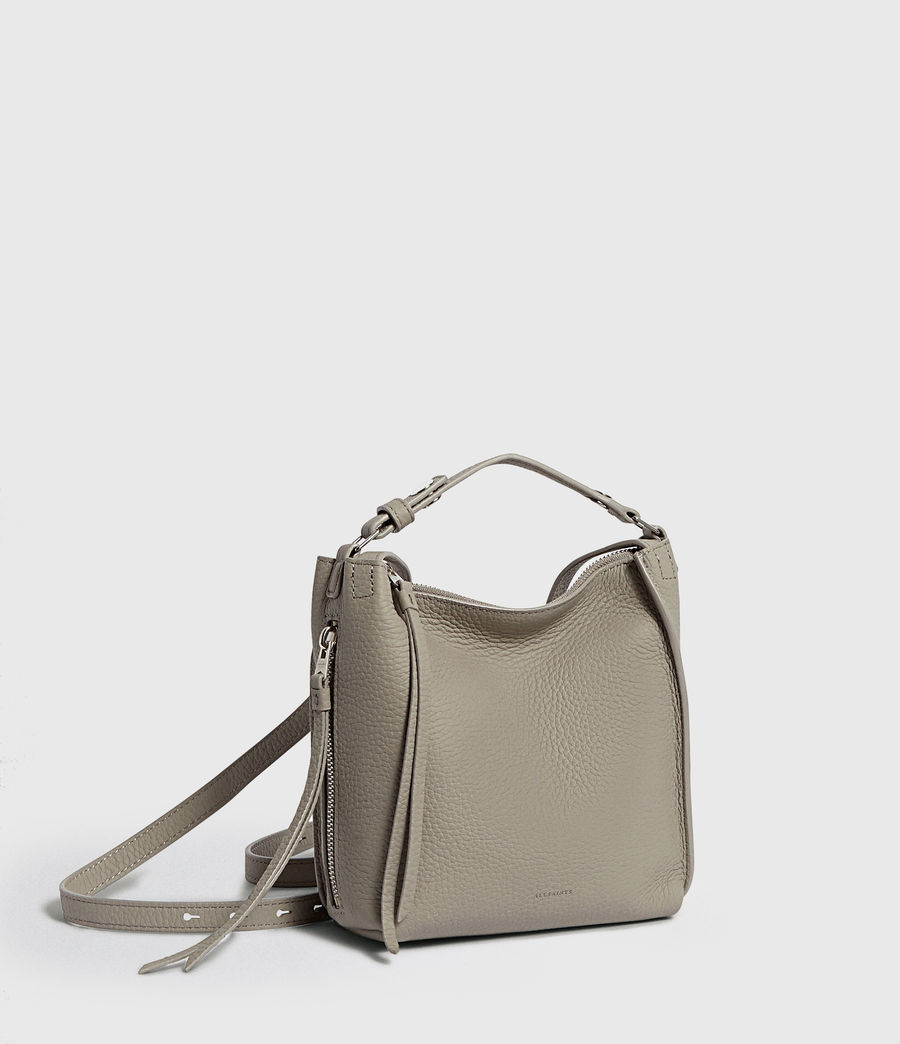 Womens Kita Leather Mini Backpack (natural_grey) - Image 3