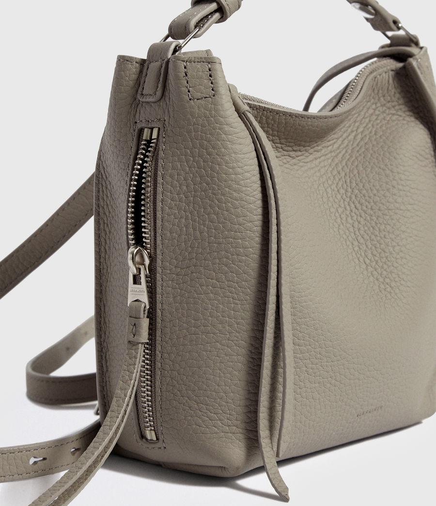 Womens Kita Leather Mini Backpack (natural_grey) - Image 4