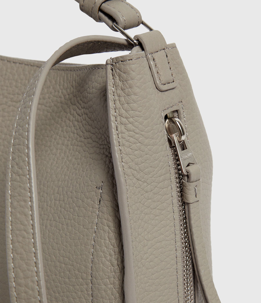 Womens Kita Leather Mini Backpack (natural_grey) - Image 6