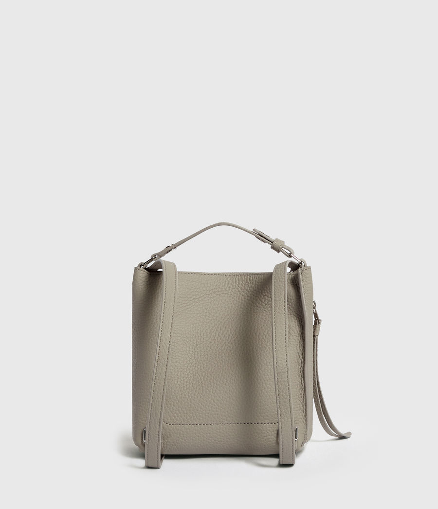 Women's Kita Mini Leather Backpack (natural_grey) - Image 8