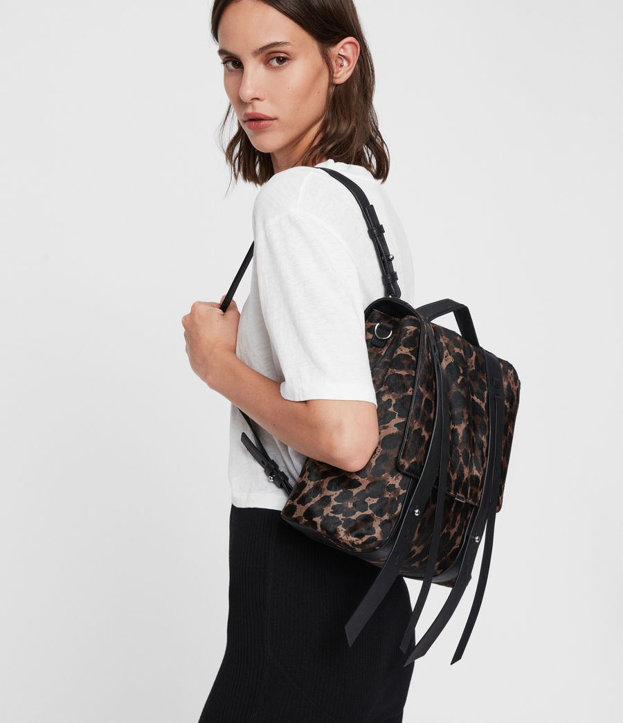 Women's Kim Leather Backpack (black) - Image 2