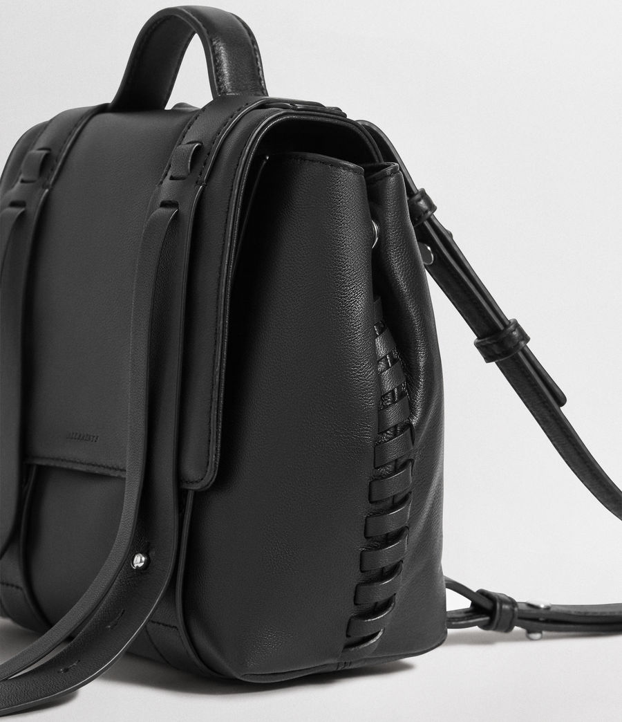 Mujer Fin Leather Mini Backpack (black) - Image 5