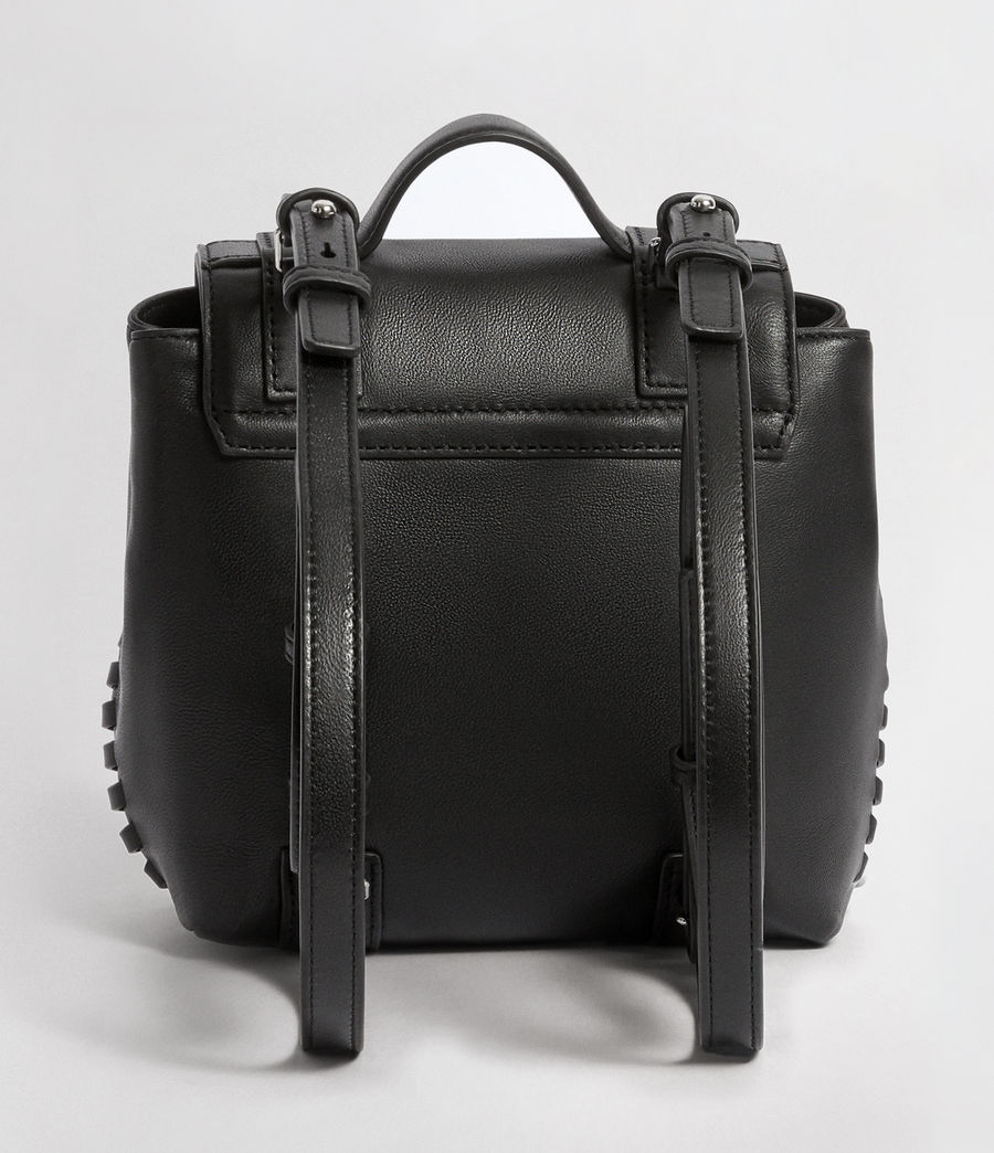 Mujer Fin Leather Mini Backpack (black) - Image 7