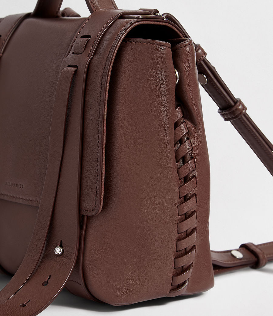 Womens Fin Leather Mini Backpack (port_burgundy) - Image 7