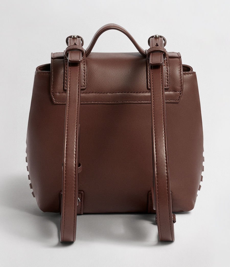 Womens Fin Leather Mini Backpack (port_burgundy) - Image 8