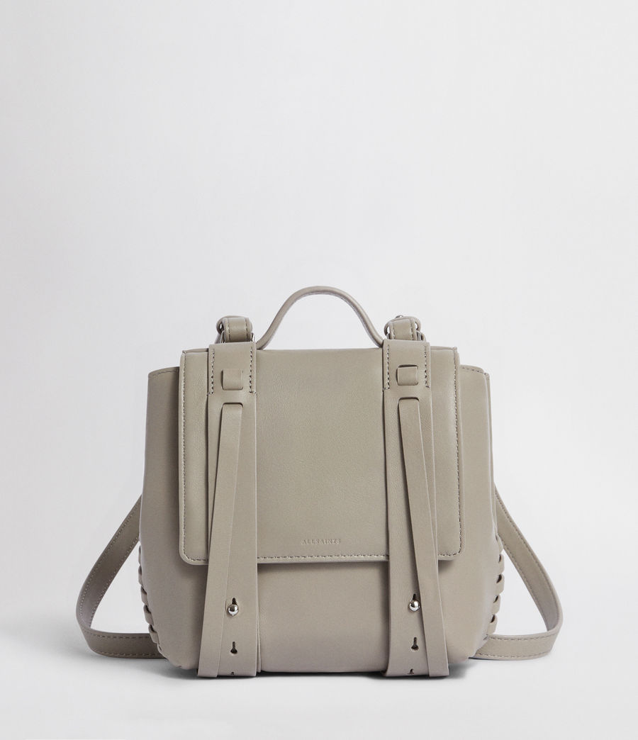Womens Fin Leather Mini Backpack (natural_grey) - Image 1