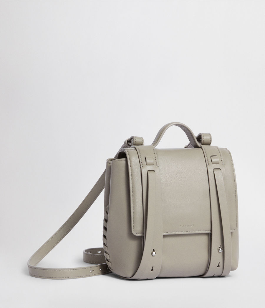 Womens Fin Leather Mini Backpack (natural_grey) - Image 3