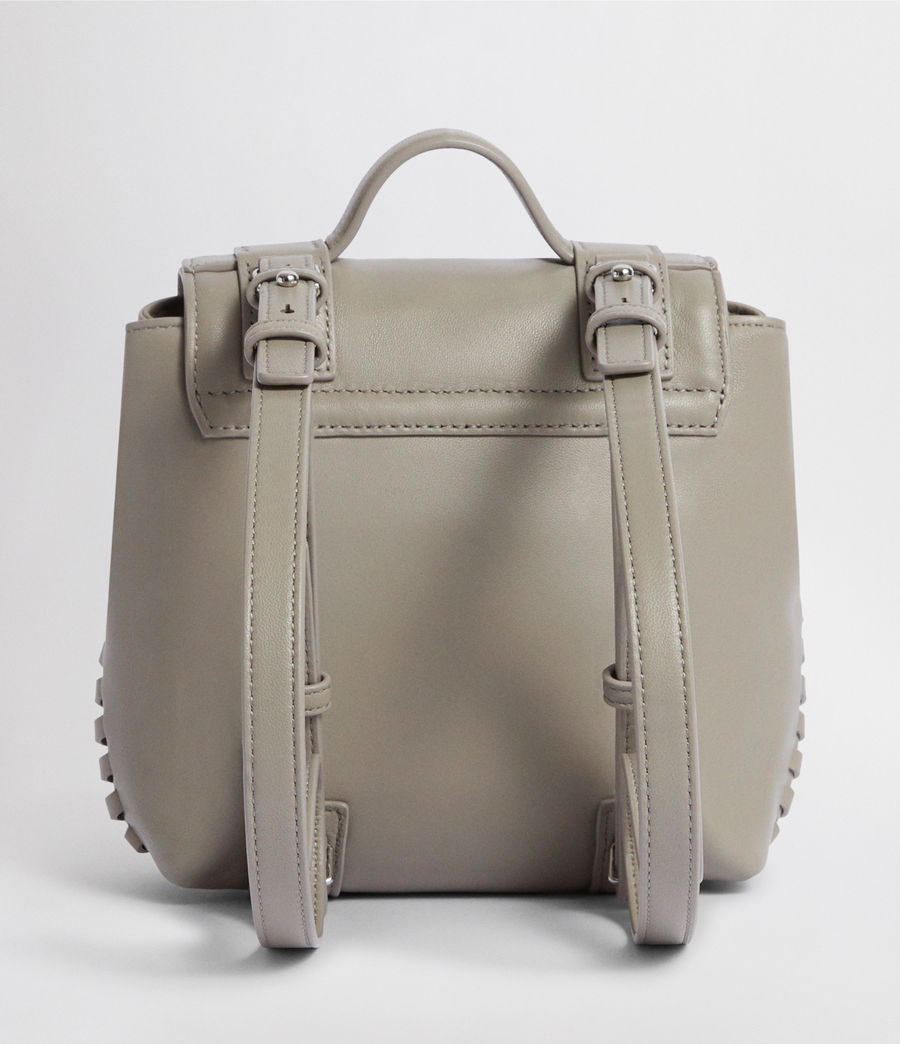 Womens Fin Leather Mini Backpack (natural_grey) - Image 6