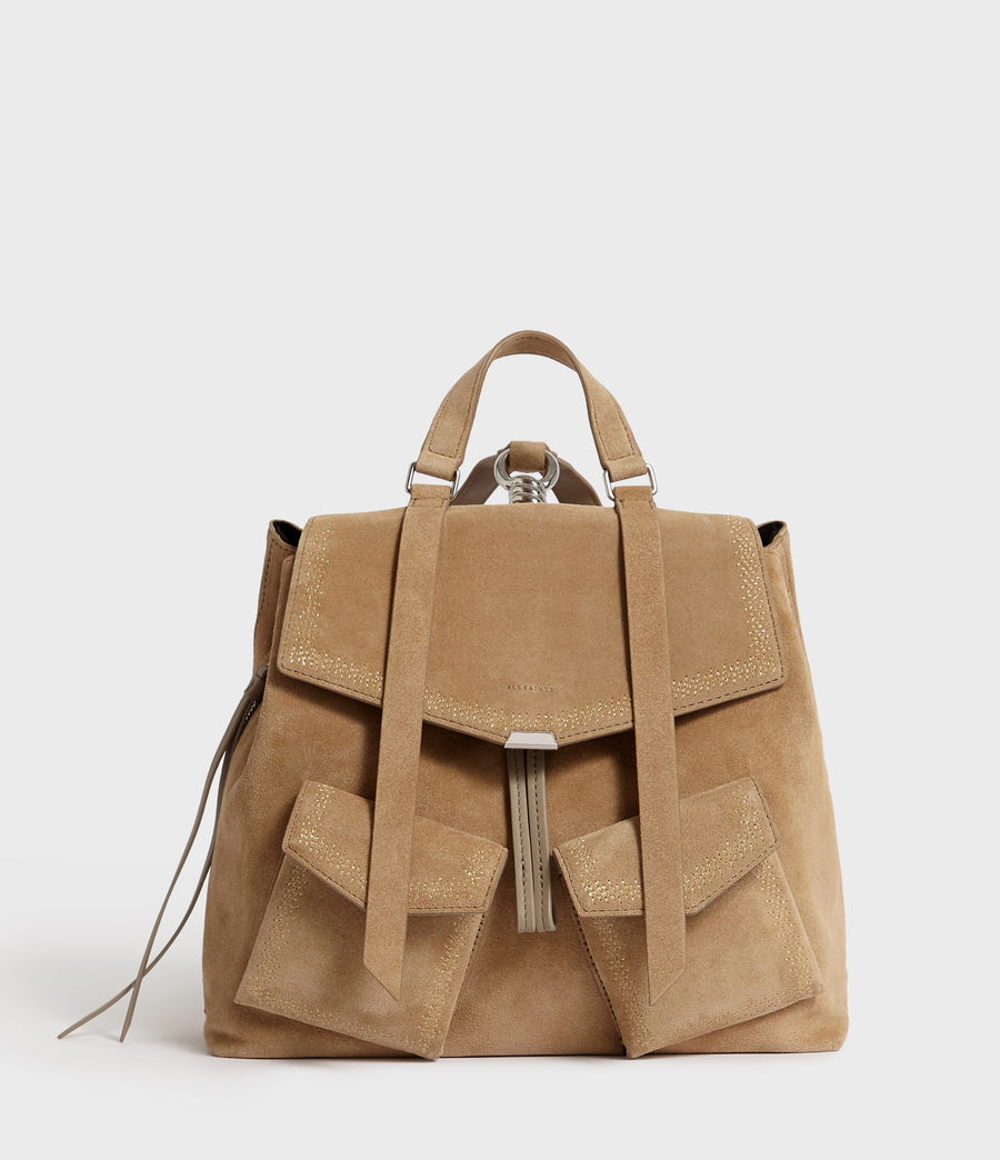 Women's Ziggy Suede Backpack (cappuccino) - Image 1