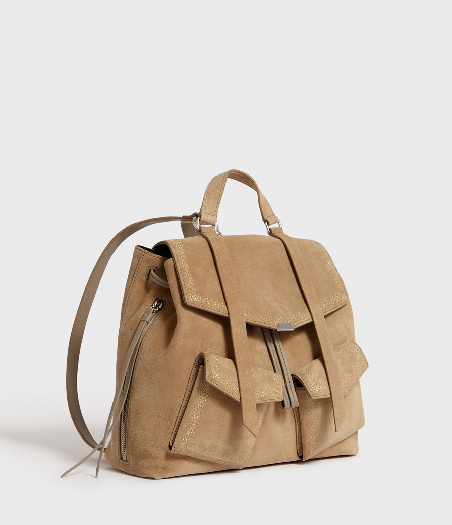 Women's Ziggy Suede Backpack (cappuccino) - Image 3