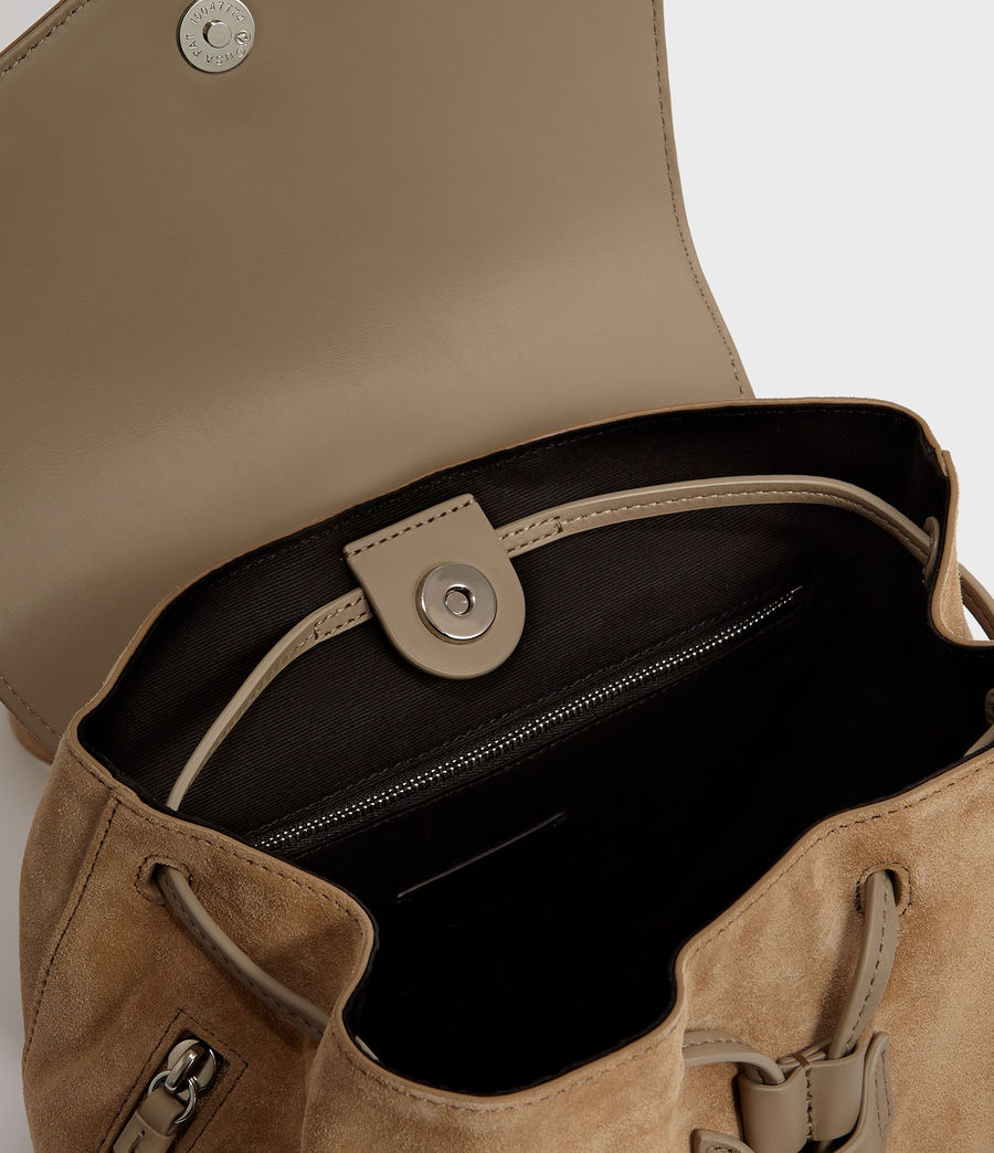 Women's Ziggy Suede Backpack (cappuccino) - Image 4