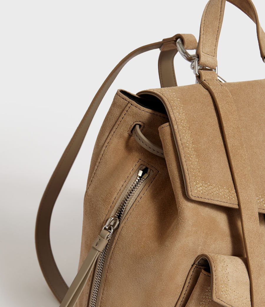 Women's Ziggy Suede Backpack (cappuccino) - Image 6