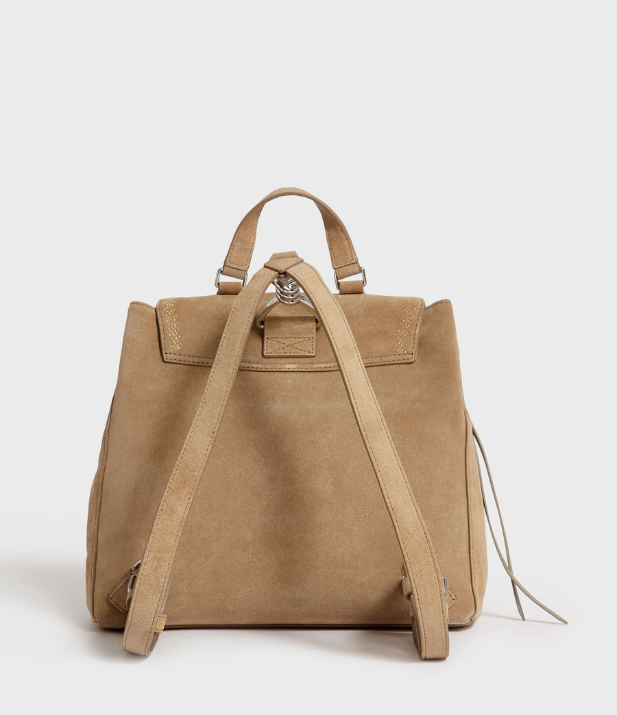 Women's Ziggy Suede Backpack (cappuccino) - Image 7