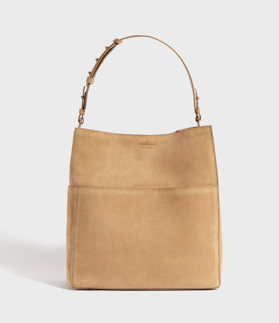 Womens Ziggy Suede North South Tote Bag (cappuccino) - Image 1