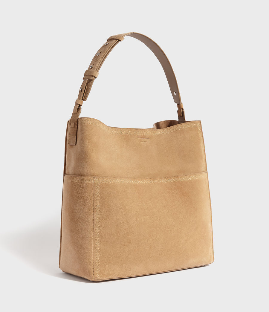 Womens Ziggy Suede North South Tote Bag (cappuccino) - Image 3