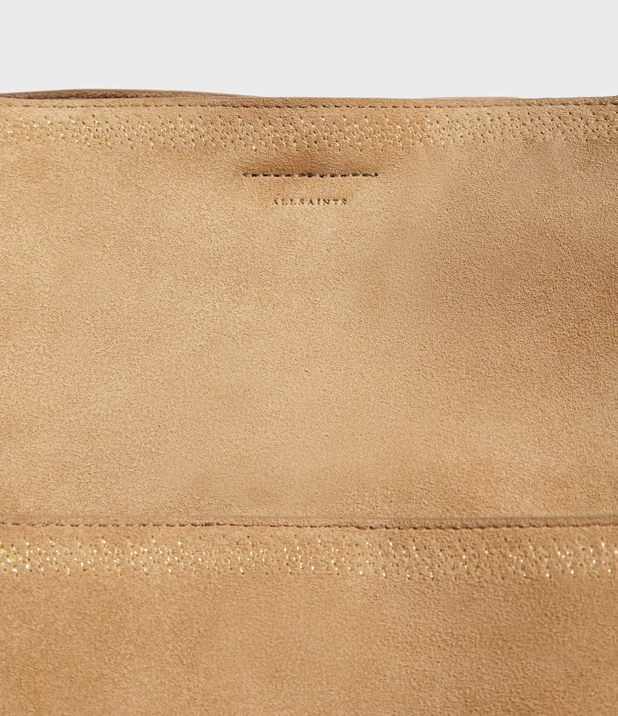 Womens Ziggy Suede North South Tote Bag (cappuccino) - Image 4