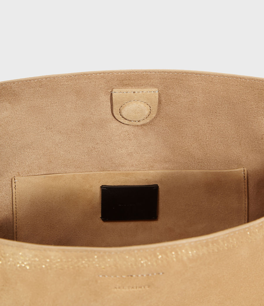 Womens Ziggy Suede North South Tote Bag (cappuccino) - Image 6