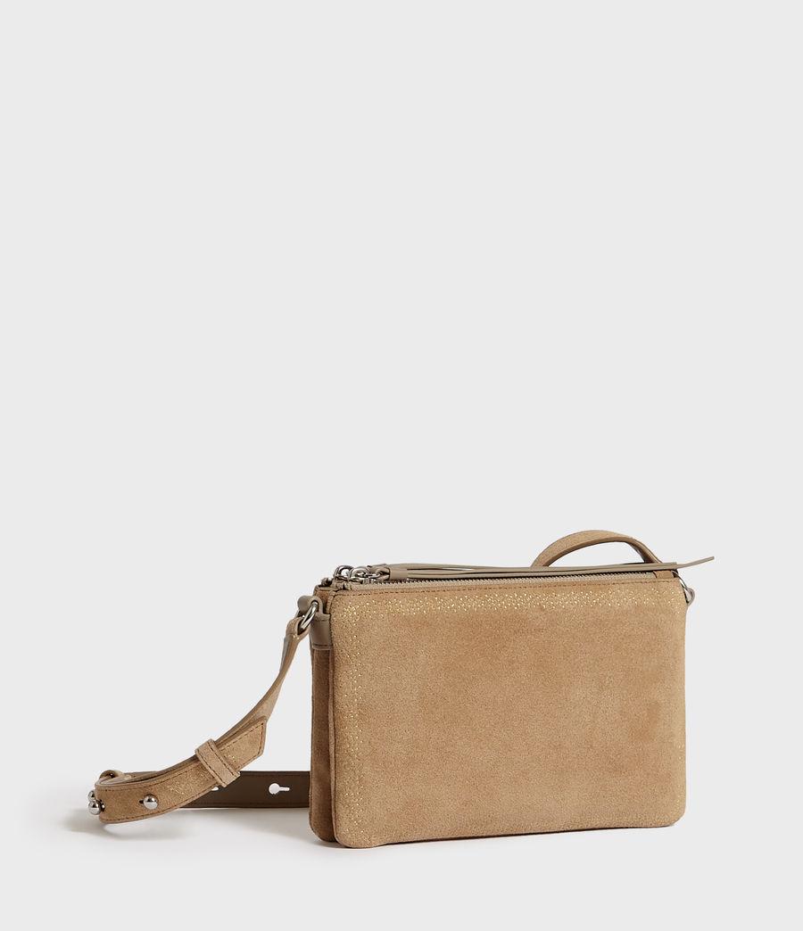 Women's Ziggy Suede Zip Crossbody Bag (cappuccino) - Image 2