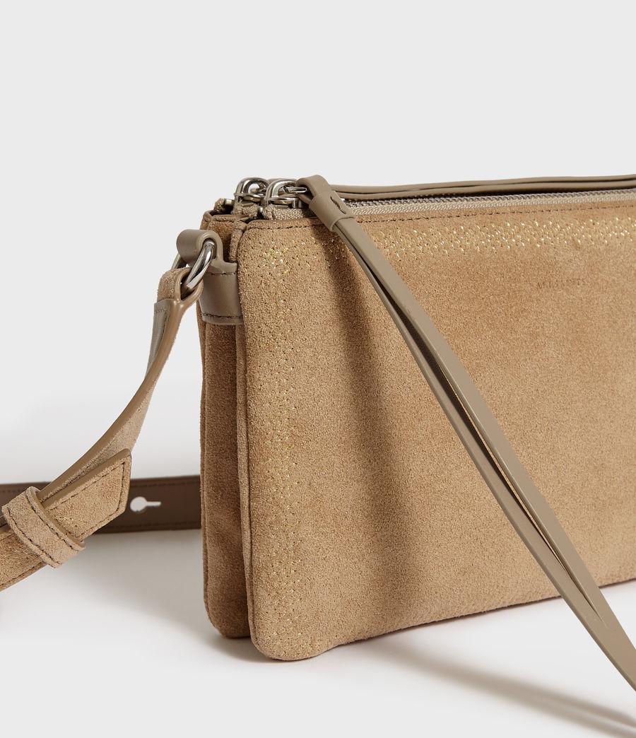 Women's Ziggy Suede Zip Crossbody Bag (cappuccino) - Image 3