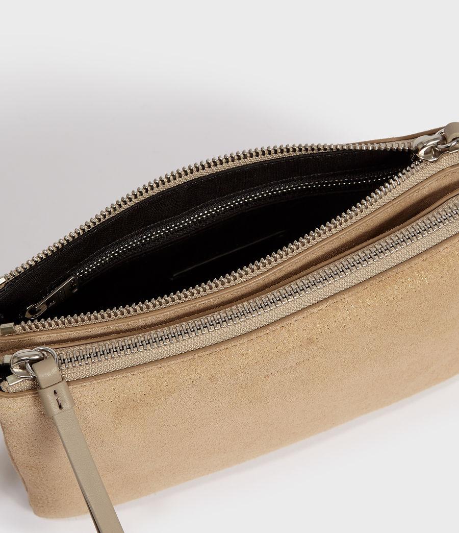 Women's Ziggy Suede Zip Crossbody Bag (cappuccino) - Image 4