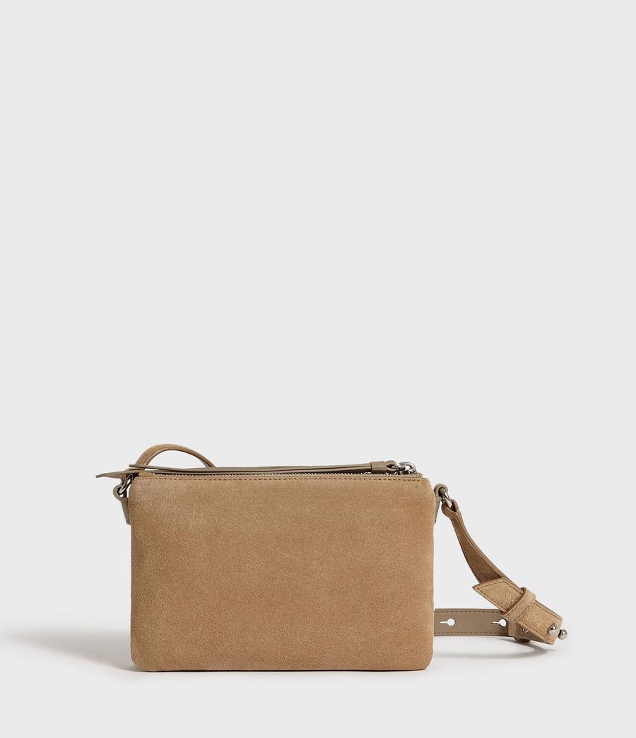 Women's Ziggy Suede Zip Crossbody Bag (cappuccino) - Image 6