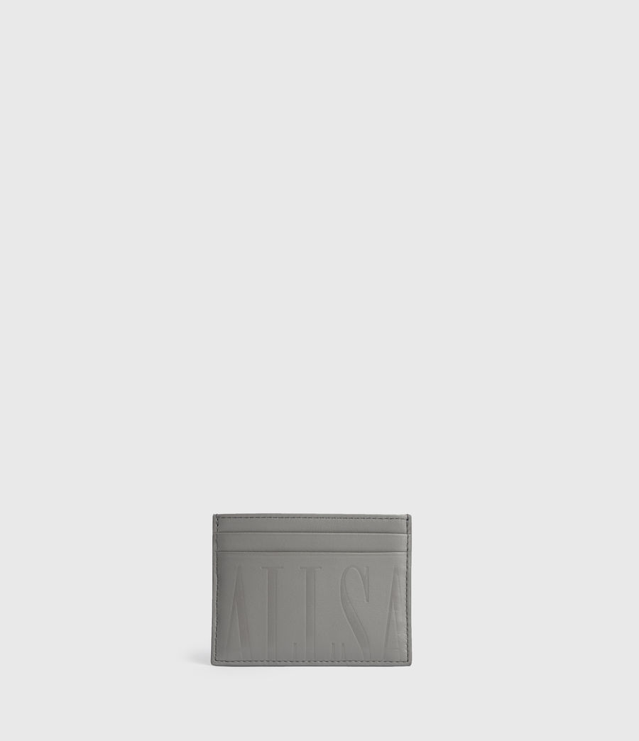 Womens Cowper Leather Card Case (grey_mist) - Image 1